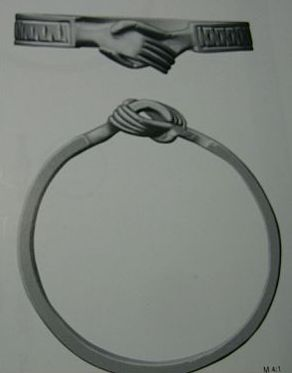 Medieval Wedding Ring clasped Hands Original picture from Book about Fuchsenhof Hoard