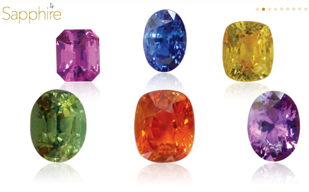 Sapphires in colours of the rainbow