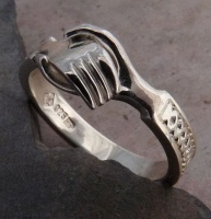 Wedding Ring clasped Hands, Gimmel Ring Medieval Betrothal Ring