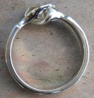 Wedding Ring clasped Hands Sterling Silver
