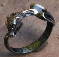 Ouroboros Ring Sterling Silver blackened