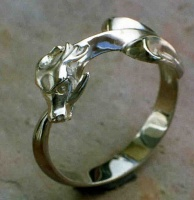 Ouroboros Ring Sterling Silver