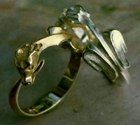 Ouroboros Ring18ct Yellow Gold & Silver