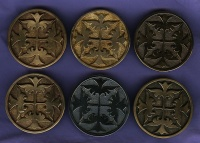 Medieval Belt buckles Cloak pins Byzantian Style 6th century Fibula window image of St. Sophia Cathedral