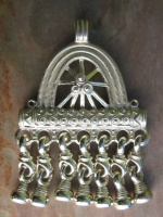 Pendant Silver Medieval Russian Viking Needle Case