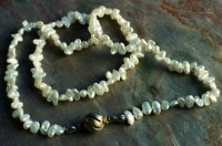 50CKPSG Necklace Chain Freshwater Pearls drilled across rd Ag Clasp incised