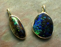 Opal Pendants in 9ct Yellow Gold