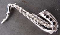 488BSax Sterling Silver Saxophone Design Brooch