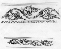 Embroidery Patterns based on Stone Carving Fassade Santa Maria Pouposa Italy 1025-1050