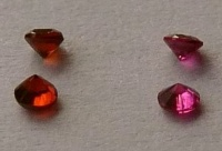 Garnets, Rubies best colour  facetted round