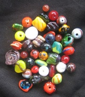 glass beads handmade with German blow torch