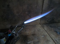 Micro welding torch tip2reducing flame