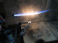 Micro welding torch tip 3 reducing flame