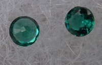 synthetic hydrothermal emeralds facetted