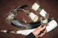 Viking Drinking Horns various sizes with hand